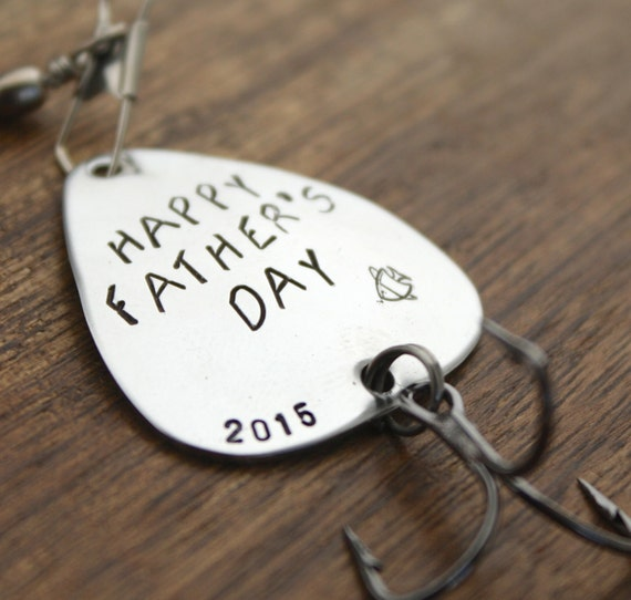 Happy father 39 s day fishing lure dad gift by sierrametaldesign for Fishing gifts for dad