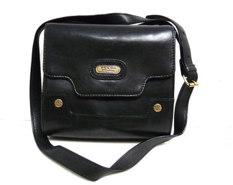 Vintage Handbag Bolon CPS Collection Black Leather Satchel Shoulder Bag