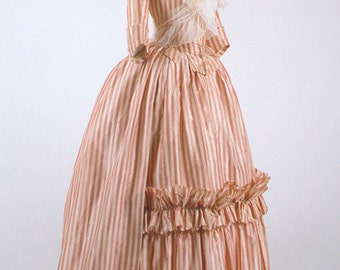 18th Century, Colonial Costume, Wedding Gown - AUTHENTICALLY STYLED (Made to order)