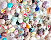 Random Fabric Covered Sewing Buttons - Set of 12 - Pick a Theme