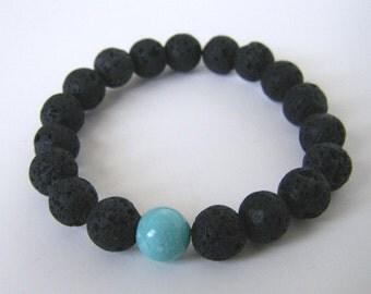 Lava Rock mala bracelet