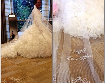 """Veronica's """"Happily Ever After"""" Cathedral Length Veil"""
