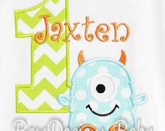 Monster Birthday Shirt, Number, Monogrammed Birthday Shirt, Boys Birthday Shirt, Girls Birthday Shirt, Shirt, Tank,Bodysuit,Romper, Gift