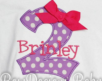Girls Birthday Shirt, Custom Birthday Shirt, Mongorammed Birthday Shirt