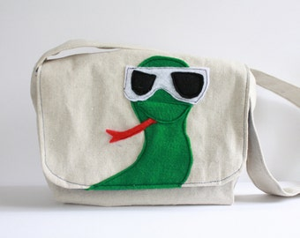 Shady Snake Mini Messenger-Kids Purse-kids mini messenger