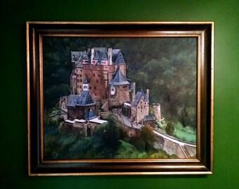 Berg Eltz Castle - 30x24in Original Oil Painting - Sale Price