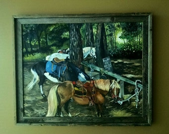 Pony Ride Original Oil Painting - 28x22in On Sale
