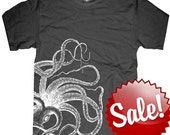 Octopus mens T-shirt --- Kraken -- sizes sm med lg xl xxl skip n whistle