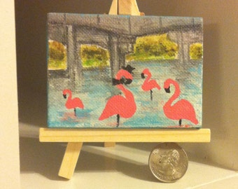 Flamingos of the Overpass