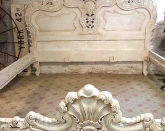 Painted Cottage Shabby  French Tea-Stain Finish Romantic  Bed BD22