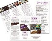 Custom Brochure or Menu Design with Insert
