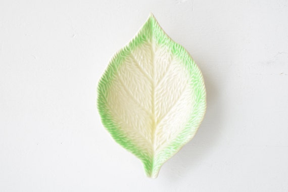 old leaf shaped dish