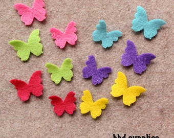 Summer of Love - Tiny Butterflies - 48 Die Cut Felt Shapes