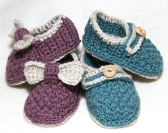 Crochet PATTERN Baby Brighton Moccasins Crochet Slipper Pattern For Babies and Toddlers