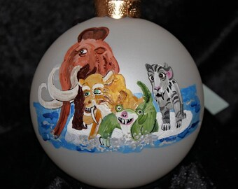 Hand-Painted Ornament - Ice Age Characters Item 1059C