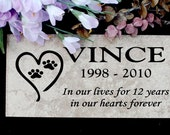 "Pet Memorial plaque. Maintenance Free 12""x6""x3/8"" ""Vince"" Design- Price includes shipping and..."