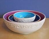 nesting serving bowls in color pop