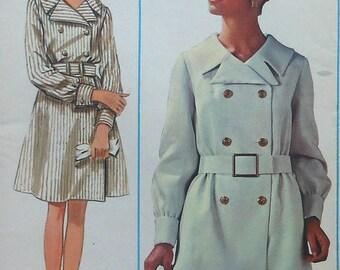 Vintage Shirtdress Sewing Pattern UNCUT Butterick 4767 Size 16 doublebreasted shirt dress