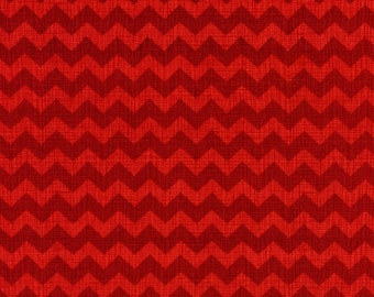 Timeless Treasures Fun Medium RED CHEVRON Stripe Fabric...New..By The Yard...ZIGGY Collection