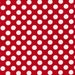 Michael Miller MINNIE White Polka Dots On Red TA DOT Fabric...New..By The Yard...Back To School....Christmas