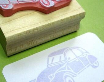 Car Rubber Stamp - 2CV Hand Carved Rubber Stamp Gift for Car Lover - Gift for Hipster - Vehicle Stamper - French Car - Scrapbooking