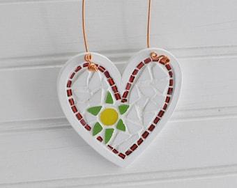 Mosaic Heart Ornament - Wall Hanging -