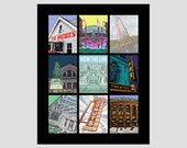 see st. louis gateway arch ted drewes donuts garden cardinals fox missouri road trip photo-graphic travel poster digital 16x20 art print