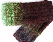 Algal Rust - Handspun, handknit mitts