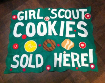 Scout  Troop Cookie Booth Sales  banners- personalized with cookies