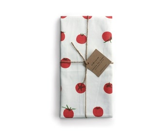 Cherry Tomato Tea Towel - 100% Organic Cotton