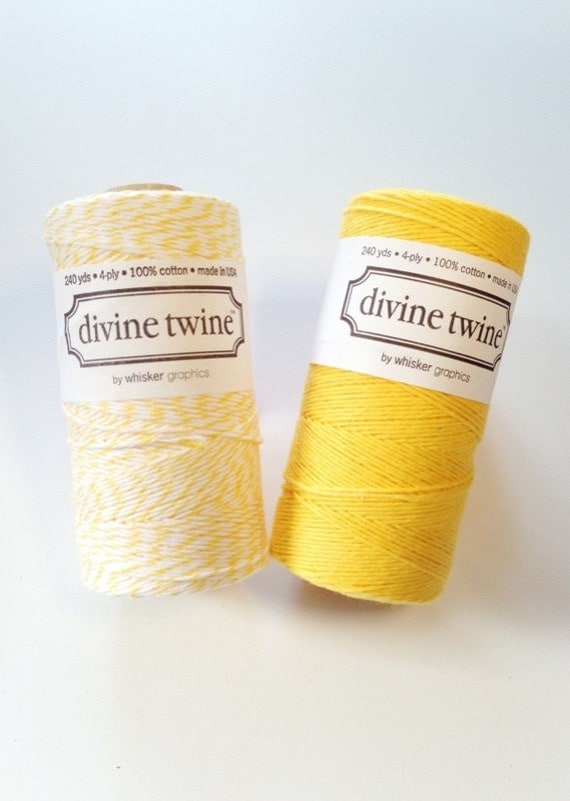 Yellow Bakers Twine Yellow Twine 240 Yards Spool - Cotton Twine for gift wrap, packaging