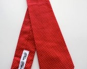 Little Guy Holiday Christmas Necktie- Red pin dot - (2T-4T) - Boy Toddler- (Ready to Ship)- Valentine's Day