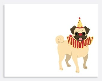 Set of Pug Note Cards