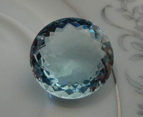 Aqua Blue Quartz Brilliant Cut Round Briolette Drilled