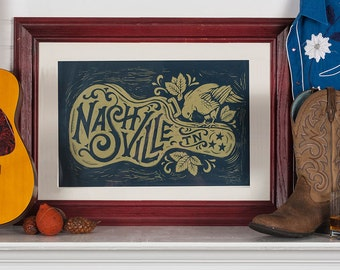 Nashville Song Bird - Block Print