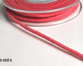 Wrapped cotton cord, cotton rope, coral, 1 meter