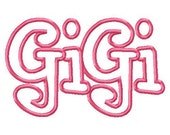 GiGi Embroidery Machine Applique Design 4214 Instant Download