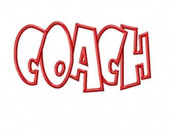Coach Embroidery Machine Applique Design 4239
