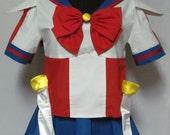 Sailor V Sailor Moon Manga Costume Cosplay Adult Women's Size Custom Fit 4 6 8 10 12 14