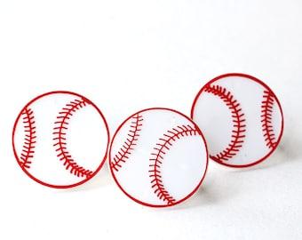 Baseball Cupcake Toppers - Baseball Cupcake Rings (12)