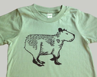 Capybara Organic Kids T Shirt