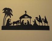 6 Nativity Die Cuts: Black Christmas Stamping supplies Handmade card