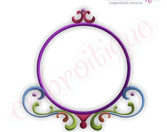 Leah Font Frame - Small- Instant Email Delivery Download Machine embroidery design