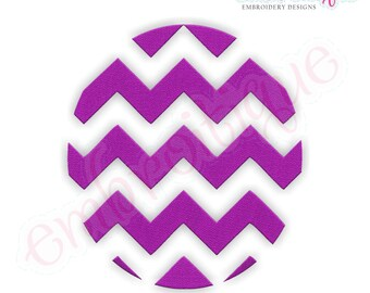 Chevron Oval Filled Embroidery Design - Small- Instant Download -Digital Machine Embroidery Design