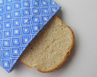 Ikat in blue Sadwich Bag/Reusable Sandwich Bag/Monaluna Organic Modern Home Ikat