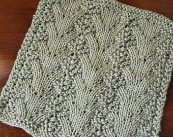 KNITTING PATTERN-Glamour, Dishcloth Pattern
