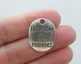 4 Remember the moments pendanst antique silver tone M218