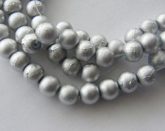 103 Silver glass beads B36