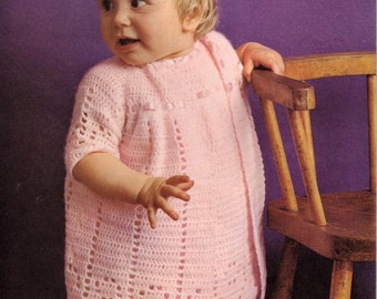 Crochet PATTERN - Baby crochet Dress and Coat/Jacket - 18 to 20 inch chest
