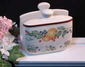 Vintage Corning Ware Corelle Coordinates Abundance Ceramic Napkin Holder, Corelle Abundance Dinnerware, Vintage Kitchen Napkin Holder